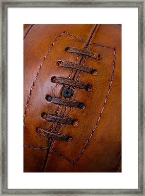 Close Up Vintage Football Framed Print