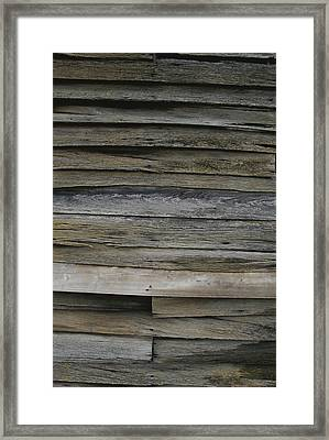 Close View Of Slats On An Antique Framed Print