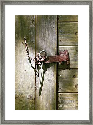 Closed Door - Safety Pin Framed Print