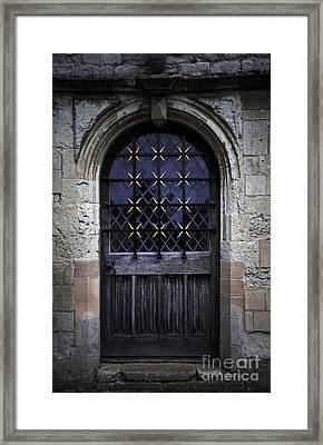 Closed Door Framed Print