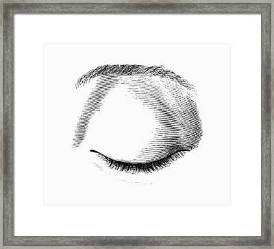 Closed Eye Framed Print