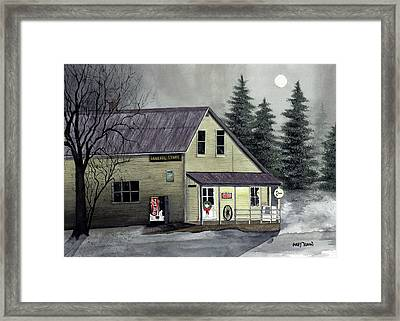 Closed For Christmas Framed Print