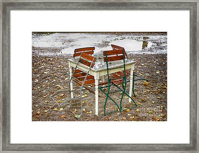 Closed For Today Framed Print by Juergen Klust