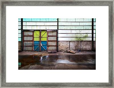 Closed Gate - Urban Exploration Framed Print