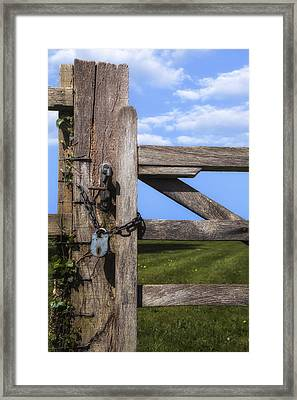 Closed Paddock Framed Print by Joana Kruse