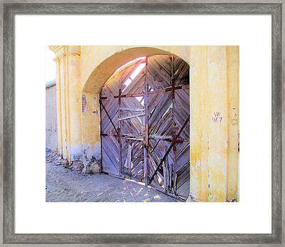 Closed, Permanently. Framed Print