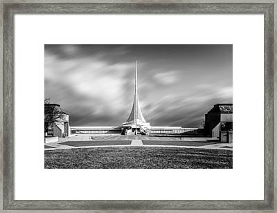 Framed Print featuring the photograph Closed Sails by Steven Santamour