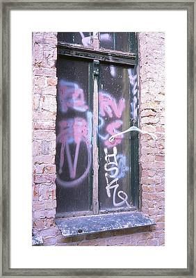 Closed Window And Hanger Framed Print