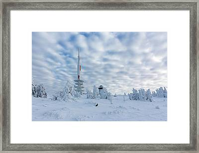 Closer To The Sky - Brocken Peak In Winter Framed Print by Andreas Levi