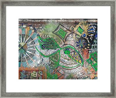 Closer View Of Wheels And Things Framed Print by Anne-Elizabeth Whiteway
