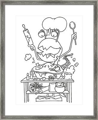 Closet Monster Baking Framed Print