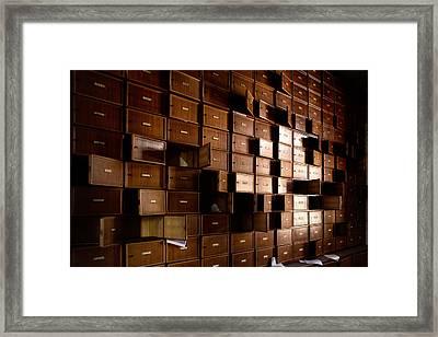 closet rhythm - Urban exploration Framed Print