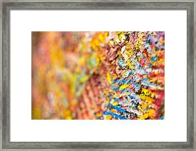 Closeup Of Abstract Art Brush Strokes Framed Print