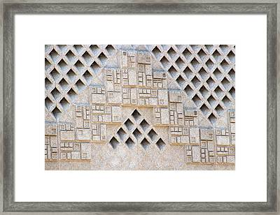 Closeup Of Federal Courthouse Roswell Framed Print