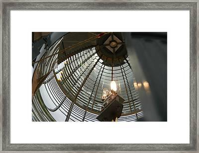 Closeup Of Lighthouse Framed Print