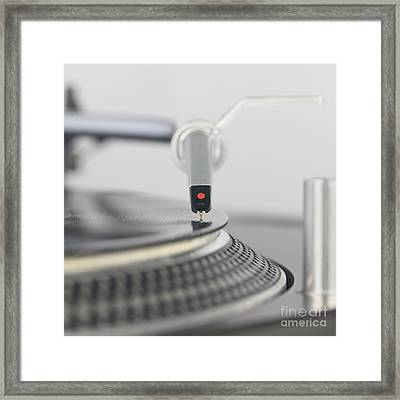 Closeup Of The Legendary Technics Sl 1200 Mk2 Turntable Framed Print
