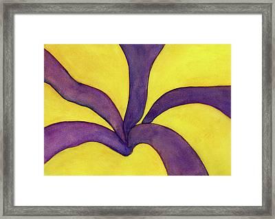 Closeup Of Yellow Rose Framed Print by Versel Reid
