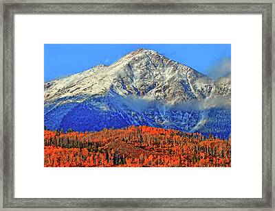 Framed Print featuring the photograph Closing In On Fall by Scott Mahon