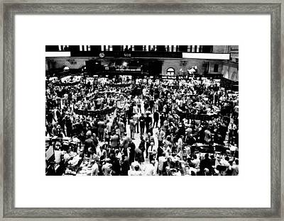 Closing Time On The Trading Floor Framed Print