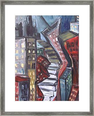 Clostridium City  Framed Print by Jon Baldwin  Art