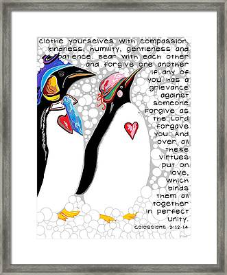 Clothe Yourselves With Compassion Framed Print by Eloise Schneider