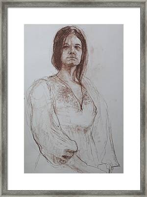 Clothed Model Framed Print by Harry Robertson