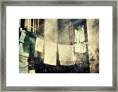 Clothes Hanging Framed Print