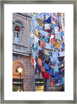 Clothes In The Street Framed Print by Andre Goncalves