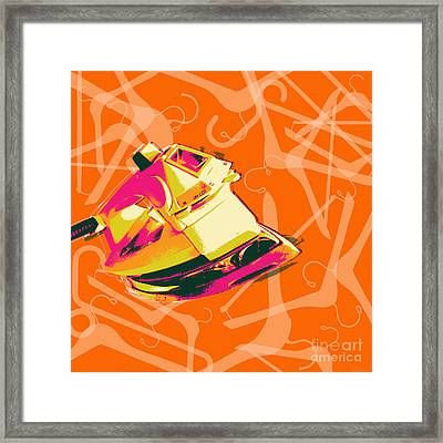 Clothes Iron Pop Art Framed Print
