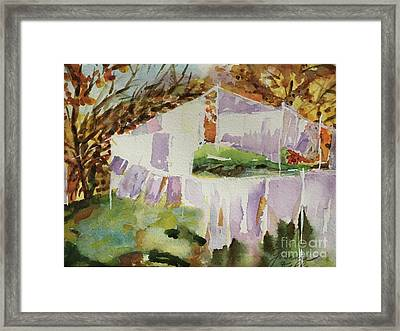 Clotheslines  Framed Print