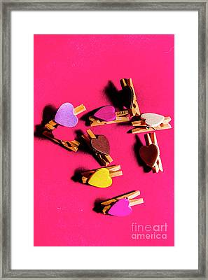 Clothespin Lovers Framed Print by Jorgo Photography - Wall Art Gallery