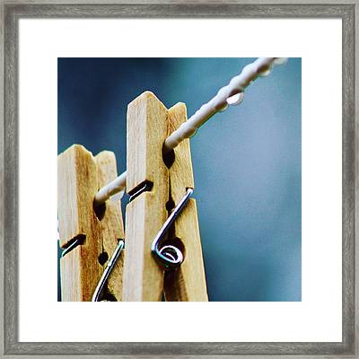 Clothespins Framed Print