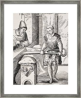 Clothworker. 19th Century Reproduction Framed Print
