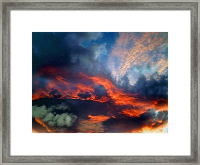 Cloud Abstract 1 Framed Print by Michael Durst