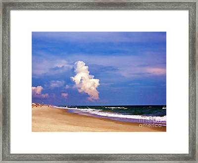 Framed Print featuring the photograph Cloud Approaching by Roberta Byram