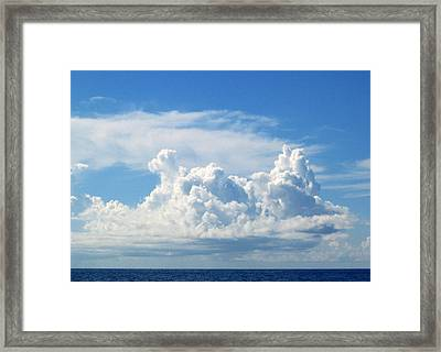 Cloud Framed Print by Barbara Marcus