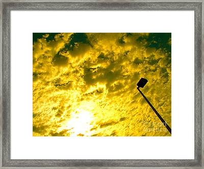 Cloud Battles In The Sky Framed Print by Chuck Taylor