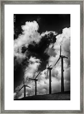 Cloud Blowers Framed Print