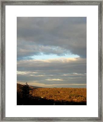 Cloud Break Framed Print by Marcia Crispino