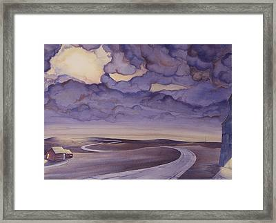 Cloud Break On The Northern Plains I Framed Print