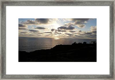 Cloud Break Sunset At  State Natural Reserve In San Diego Framed Print