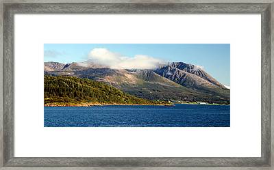 Cloud-capped Mountains Framed Print