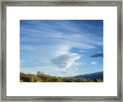Cloud Channel Framed Print by Alpha Pup