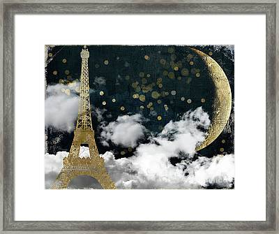Cloud Cities Paris Framed Print by Mindy Sommers