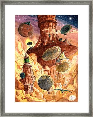 Cloud City Framed Print by Luis Peres