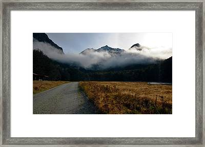 Cloud Clad Caples Framed Print by Odille Esmonde-Morgan