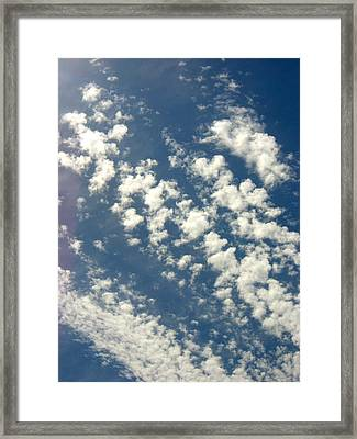 Cloud Clusters Framed Print by Kimberly Morin