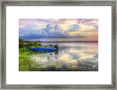 Cloud Colors Framed Print by Debra and Dave Vanderlaan