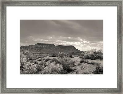 Cloud Cover, Monochrome Framed Print by Gordon Beck