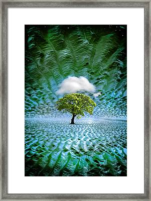 Cloud Cover Recurring Framed Print by Mal Bray